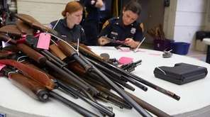 Roughly 100 people handed in 161 guns --