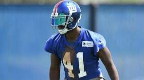 New York Giants' cornerback Dominique Rodgers-Cromartie looks on