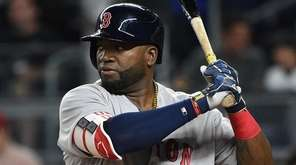 Red Sox designated hitter David Ortiz looks for