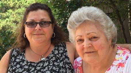 Patrina Grella, of Glen Cove, and her mother,