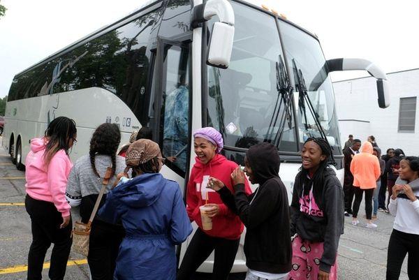 Twenty-nine Amityville Memorial High School students left Sunday,