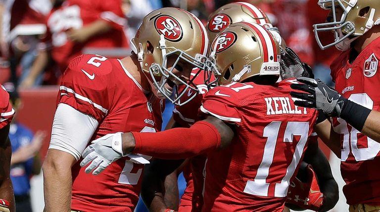 San Francisco 49ers quarterback Blaine Gabbert (2) and