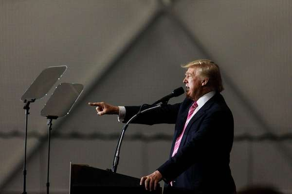 Republican presidential candidate Donald Trump speaks Saturday, Oct.