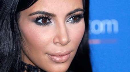 Kim Kardashian poses at the Cannes Lions in