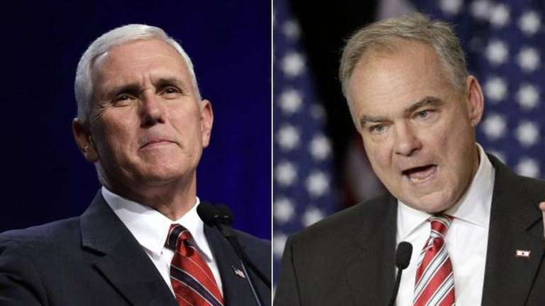 Indiana Gov. Mike Pence, left, and Virginia Sen.
