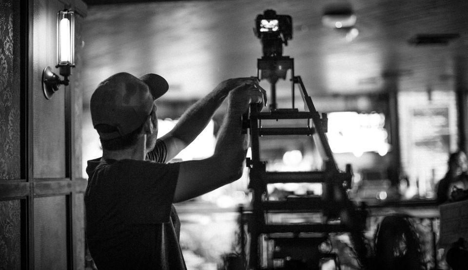 Multimedia producer Jeffrey Basinger films the music video