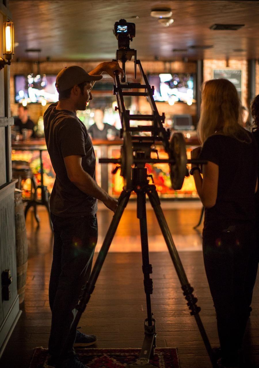 Multimedia producer Jeffrey Basinger and video editor Raychel
