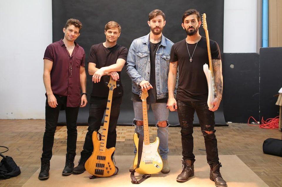 Oak & Ash band members (from left, drummer