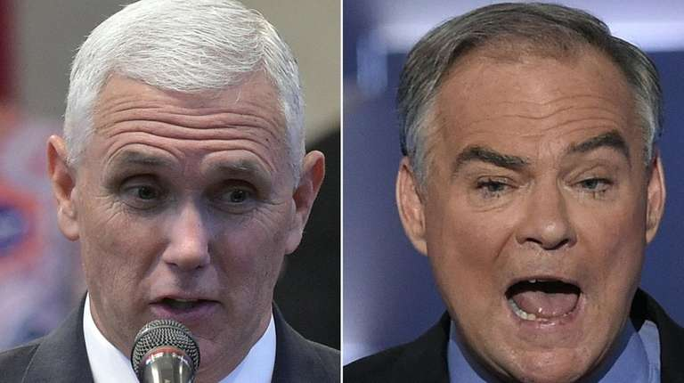 Mike Pence and Tim Kaine face off Tuesday