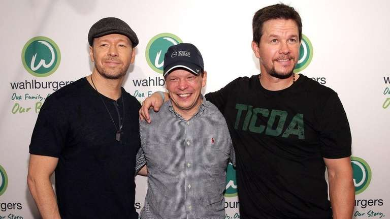 From left, Donnie, Paul and Mark Wahlberg; the