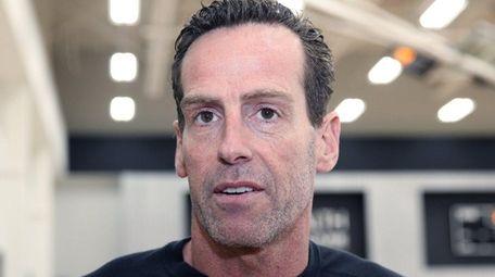 Nets' head coach Kenny Atkinson talks to media
