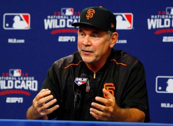 Manager Bruce Bochy of the San Francisco Giants