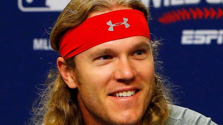 Noah Syndergaard of the New York Mets speaks