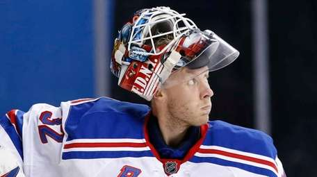 New York Rangers goalie Antti Raanta of Finland