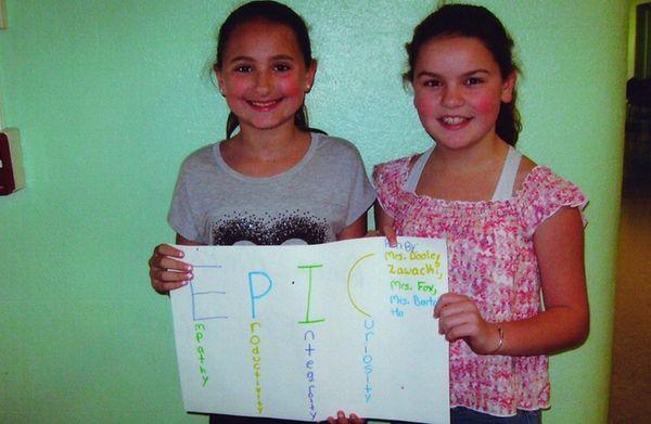 Kidsday reporters Alexandra Simmons and Anna Makarick help