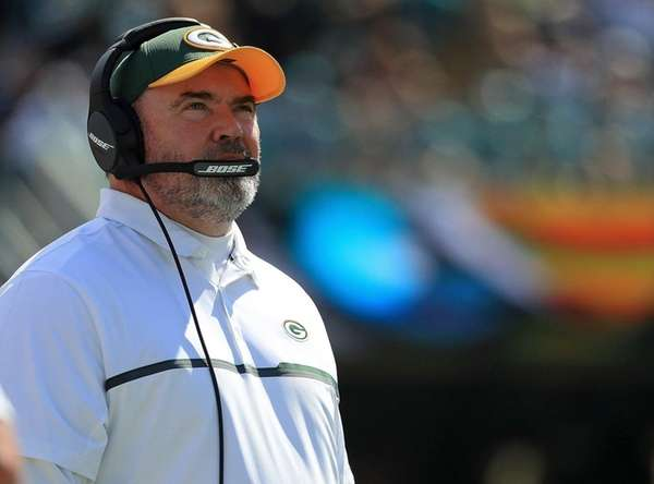 Green Bay Packers head coach Mike McCarthy during