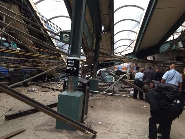 Wrecked NJ Transit train removed from Hoboken Terminal