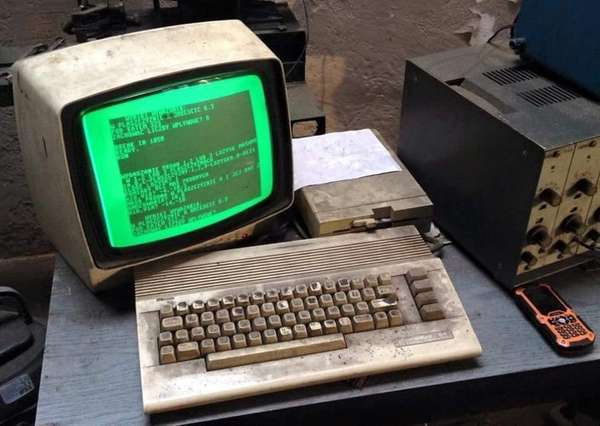 A Commodore 64 that has been used at