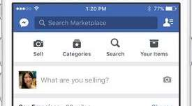 Facebook's new Marketplace feature is shown in this