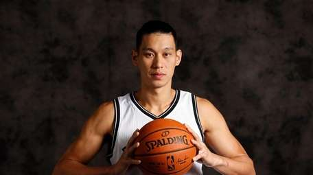 Brooklyn Nets Jeremy Lin (7) during media day