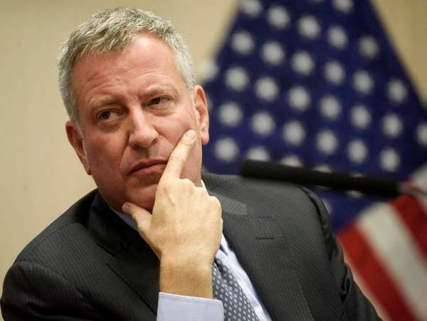 Mayor Bill de Blasio's job-approval rating has risen