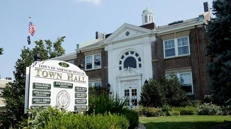 North Hempstead Town Hall in Manhasset is shown