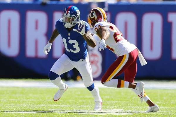 Josh Norman of the Washington Redskins covers Odell