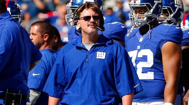 Head coach Ben McAdoo of the New York