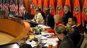 Nassau legislators meet in Mineola on Wednesday, Oct.