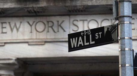 The New York Stock Exchange is seen on