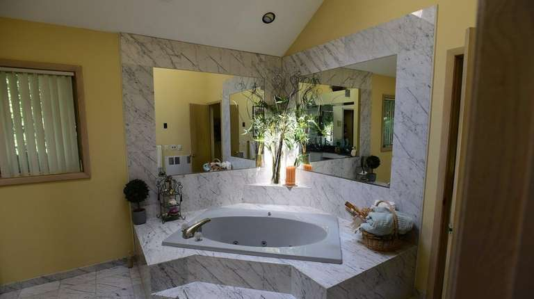 The master bath of the Port Jefferson house