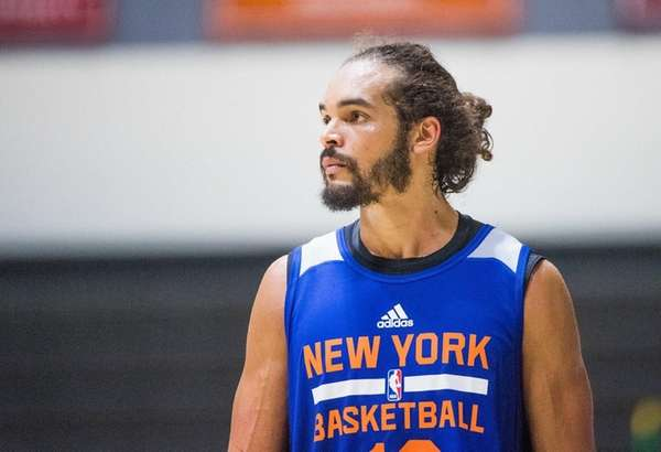 Knicks center Joakim Noah during practice at the