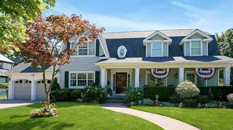 This high-end house, a Colonial in Rockville Centre,