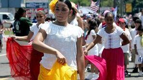 The Brentwood Schools Bilingual-ESL Department students dance along