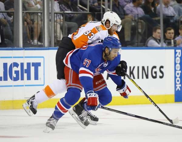Cristoval Nieves of the New York Rangers is