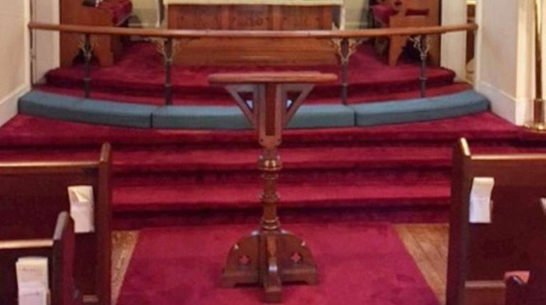 This historic lectern at All Souls Episcopal Church