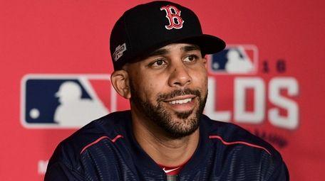 Boston Red Sox pitcher David Price smiles while