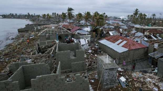 Homes lay in ruins after the passing of