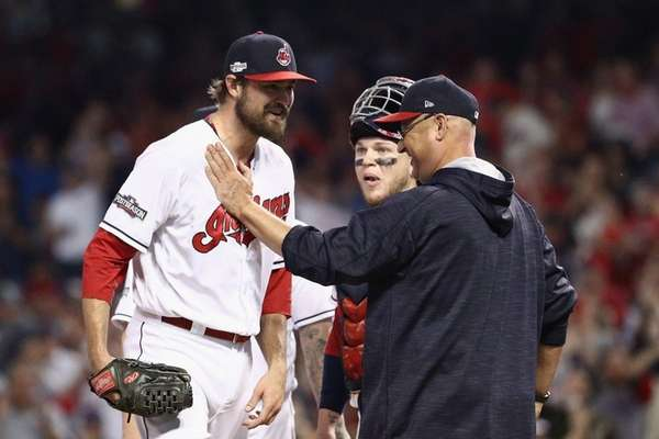 Andrew Miller #24 of the Cleveland Indians is