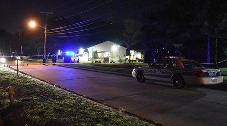 Police respond to a crime scene on Thursday,
