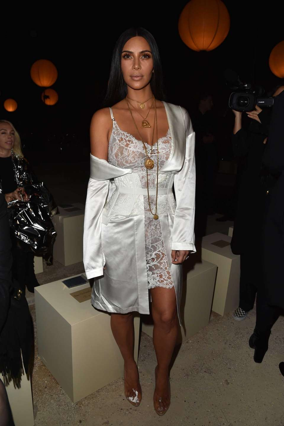 Kim Kardashian attends the Givenchy show as part