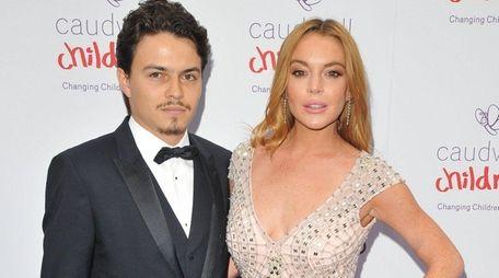 Lindsay Lohan and Egor Tarabasov in London in