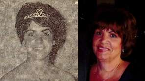 Seaford High School homecoming queen Judy Andrews, then