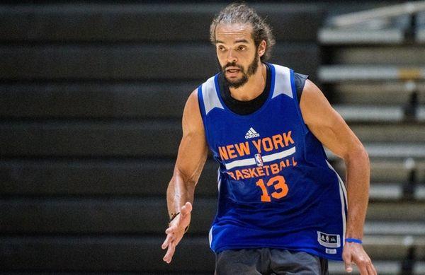 New York Knicks center Joakim Noah during practice