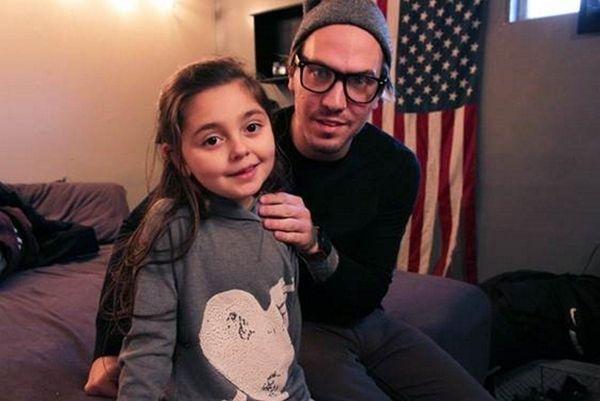 Colette Prainito, 8, of Farmingville, with her dad;