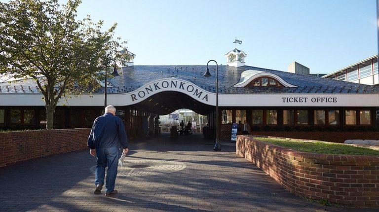 The Long Island Rail Road station in Ronkonkoma;