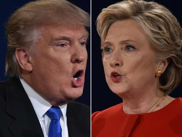 Republican nominee Donald Trump and Democratic nominee Hillary