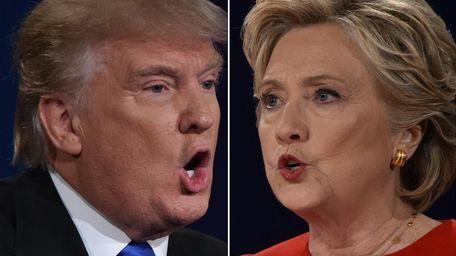 Republican nominee Donald Trump and Democratic nominee Hillary