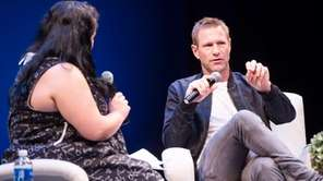 Actor Aaron Eckhart speak with Jenelle Riley from