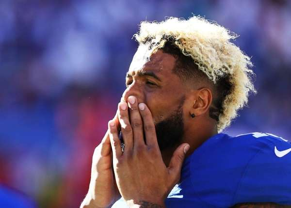 Odell Beckham of the New York Giants looks